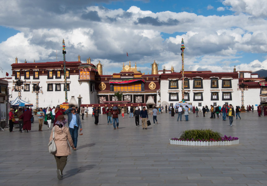 Jokhang Temple from Lhasa's Barkhor Square