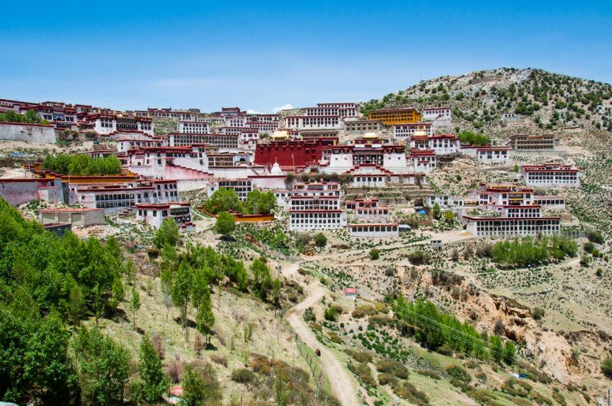 Ganden Monastery Hillside Tibet