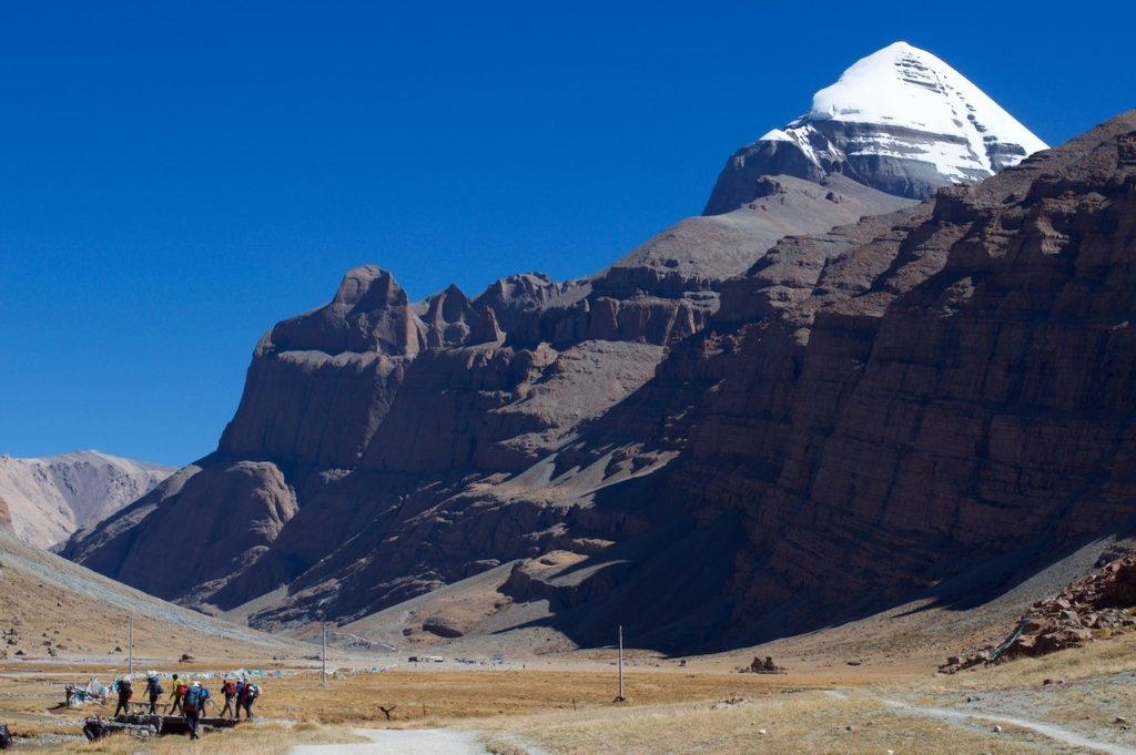 Kailash Trekkers at the foot of the mountain.