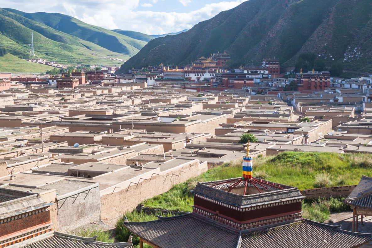 Overlooking Labrang Monastery in Xiahe