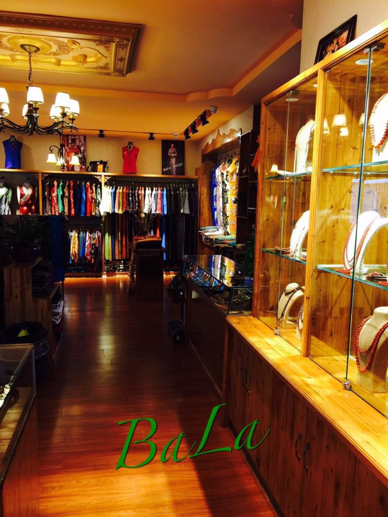 Inside of Bala Clothing Store