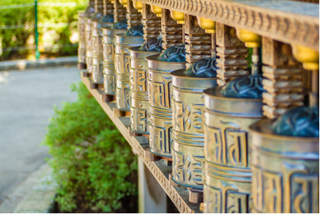 Prayer wheels in Bon religion