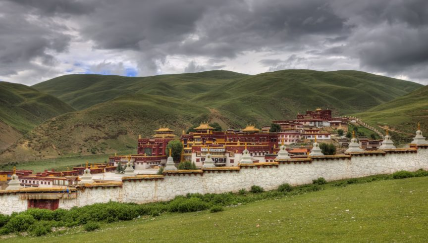 Litang city walls Tibet