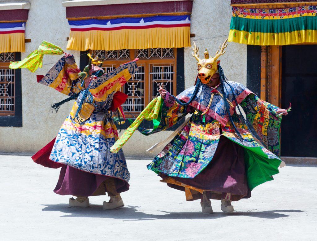 Losar Religious Dancers Tibet