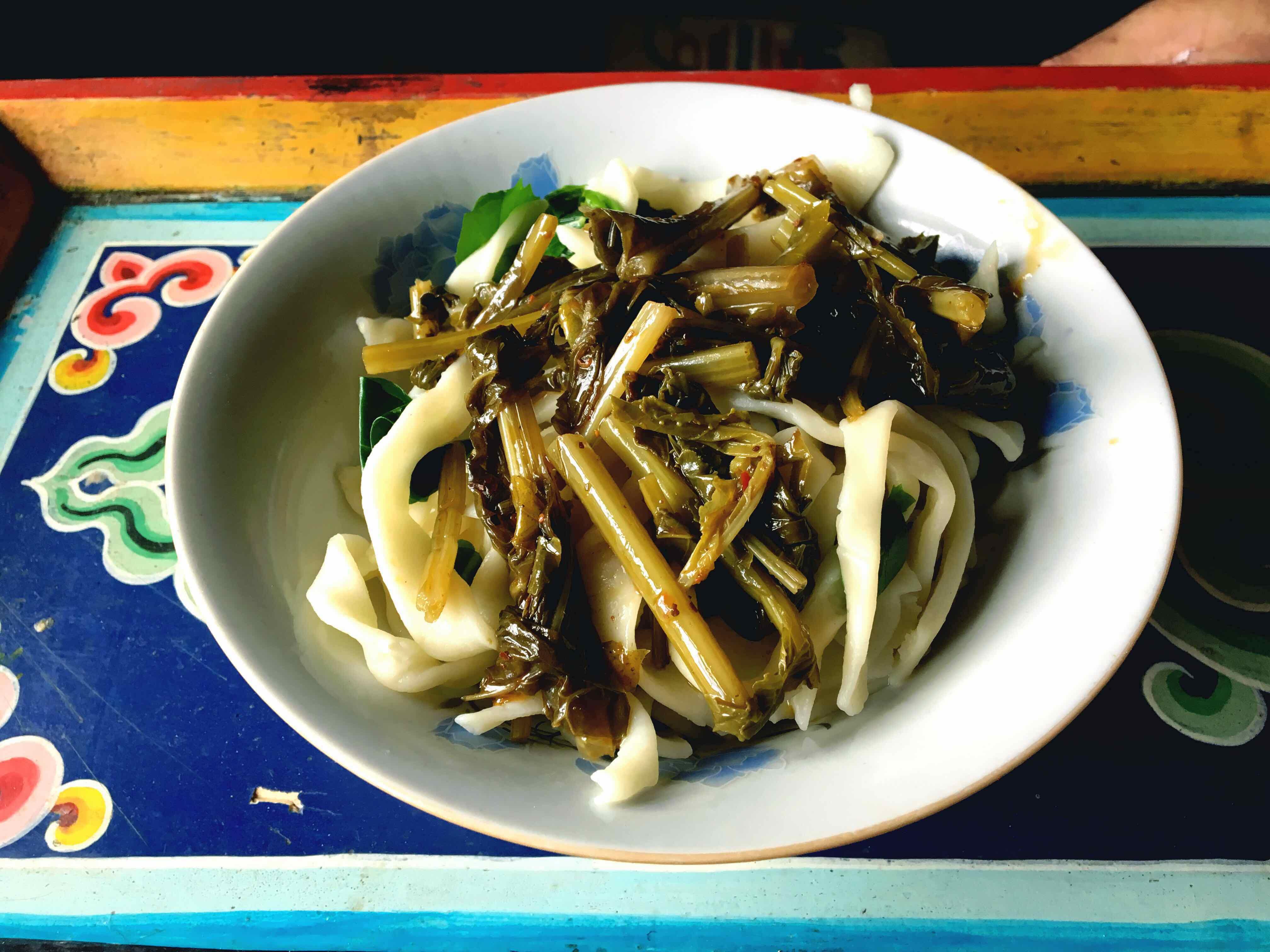 Local Tibetan noodle at Zang Yuan Qing Tibetan Restaurant